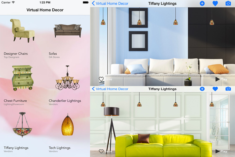 Home decor virtual interior design tool appslisto for Virtual interior home design
