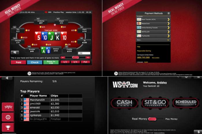 Wsop online poker real money app pit boss poker table